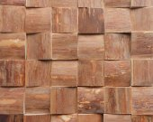Unique wooden mosaic pattern 3D. Wall panel.
