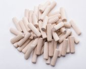 100 Pcs Wooden Dowels Pins M8 x 30mm Furniture Hardware Inclined line Round