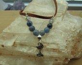 cat pendant with Blue Aventurine stones.