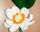 Handmade Lotus Flower with leaf crocheted