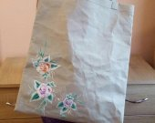 Shopping bag from sewing craft