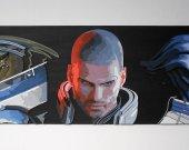 Handmade Mass Effect Squad, Shepard, Garrus, Liara portrait (male)