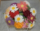 Knitted bouquet of flowers