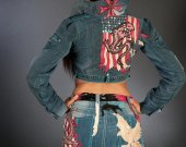 """Female costume for club """"Dragon"""" (skirt and jacket)"""
