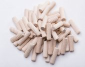 200 Pcs Wooden Dowels Pins M8 x 35mm Furniture Hardware Inclined line Round