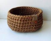 cotton crocheted basket for storage