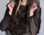 "Female vest made of natural fur ""Silver Fox"" - of natural fur silver Fox"