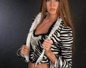 "Cocktail women's costume ""Striper"" (suit-""three"": top, pants, jacket)"