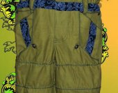 """Men's jumpsuit """"Shield"""" - the chest and the back is completely closed sidewall reinforced rubber constrictions"""