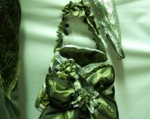 "Handbag-radicult and long gloves for evening dress ""Lady Green"""
