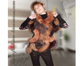 "Women's vest ""Lily in the furs"