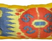 Lovely uzbek pure blend of natural cotton ikat adras pillow cushion cover A10550