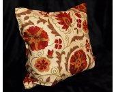 Marvelous cozy uzbek natural cotton pillow case cushion suzani motifs M079