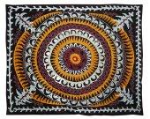 Large gorgeous uzbek tadjik fully silk embroidery suzani A8778