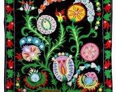Stunning uzbek turkish ottoman silk embroidery velvet suzani A11435