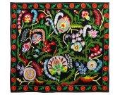 Large one-of-a kind stunning uzbek turkish ottoman silk embroidery suzani A10889