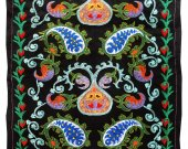 Colorful uzbek turkish ottoman silk embroidery suzani A11318