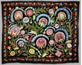 Large one-of-a kind stunning uzbek turkish ottoman silk embroidery suzani M120
