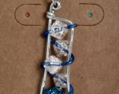 Chalcopyrite and Glass Bead pendant