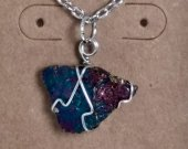 Wire wrapped Chalcopyrite pendant