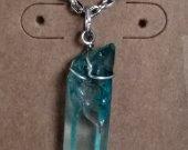 Blue Quartz Crystal Necklace
