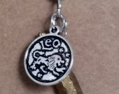 Leo Pendant and Gold Luster Quartz Crystal  Necklace