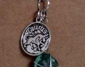 Taurus Pendant and Jade Stone  Necklace