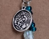 Aquarius Pendant and Blue Quartz Crystal Necklace