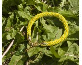 "green and yellow bracelet ""Sunny summer"""