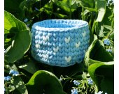 "Crochet basket ""cloudy sky"""