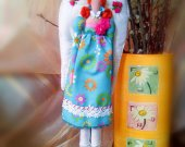 Cotton doll Decorative Art doll Gift for women Soft toy Boudoir Cute doll Shelf decor Handmade