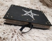 handmade leather notebook STAR, PENTAGRAM, five elements, grimoire