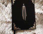 Suede notebook  The Skull of a Crow, raven