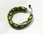 """beaded bracelet """"green snake"""""""