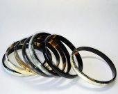 Set of 7 bracelets - Buffalo horn bangle bracelet - Horn jewelry -  KAI-3751