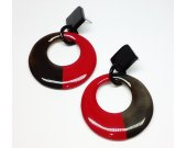 Buffalo horn earrings  - horn jewelry - best friend jewelry KAI-2727