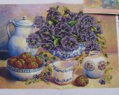 Bead Embroidery kit Still life Beaded embroidery needlework set