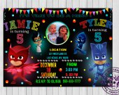 Sibling birthday party pj masks Pj masks birthday invitation Pj masks sibling invitation Pj masks invitation twins Printable Pj Mask Catboy & Owlette