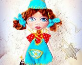 Puppet handmade doll Best gift for her Baby Rag Cloth Cotton Soft Collectible Shelf decor Idea Custom Unique For girl Art Fabric Textile