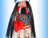 Original gift for little girl Baby doll Puppet Handmade Cotton Textile Cloth Rag Soft Shelf decor Fabric Shelf sitter Home decor For her