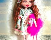 Fashion doll Gift for women Boudoir doll Textile Cloth Art Fabric Cotton Soft Rag Original Shelf decor Unique Handmade