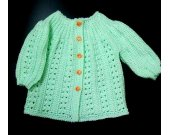 Knitted jacket for babies