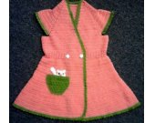 Knitted colorful tunic for girls