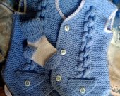 Knitted set for boy. vest and socks