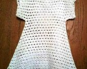 Knitted tunic for girls for summer
