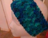 Blue Ear Warmers Crocheted