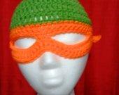 Orange masked Beanie
