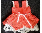Hand made knitted dress for girl,elegant dress