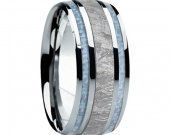 COI Tungsten Carbide Meteorite Carbon Fiber Ring - 4088