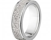 COI Tungsten Carbide Wedding Band Ring With Meteorite-TG4568